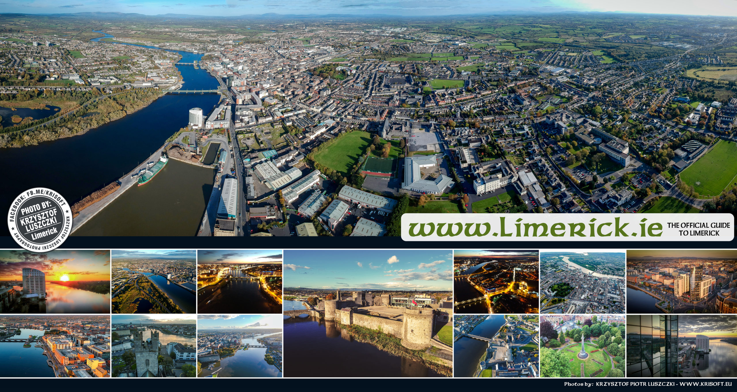 Limerick City drone footage