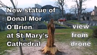 Limerick new statue of Donal Mór O'Brien at St Mary's Cathedral