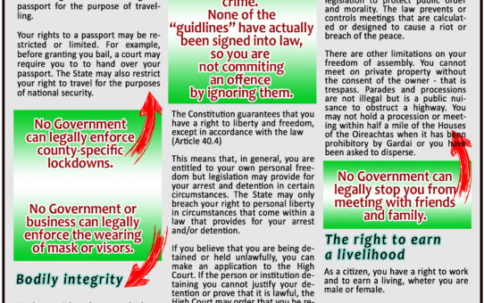 These are your Fundamental Rights - IRISH CONSTITUTION