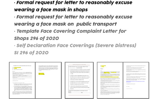 FACE COVERINGS EXEMPTION FORMS - IRELAND